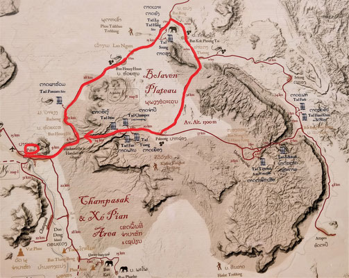 Ausflug zum Bolaven Plateau.
