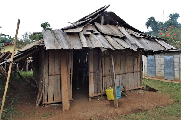 Die einfache Hütte.....