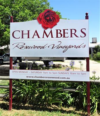 Das Chambers Weingut.