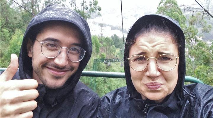 Güni und Lauras Sesselliftfahrt auf den Morro do Cruz.....