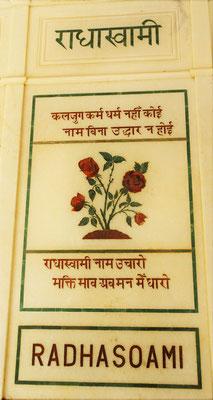 ...der Radha Soami Tempel.