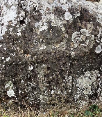 Die einzige gefundene menschliche Skulptur auf einem Steinkrug.