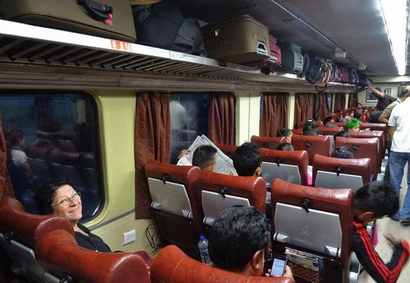 Im Zug nach Amritsar....