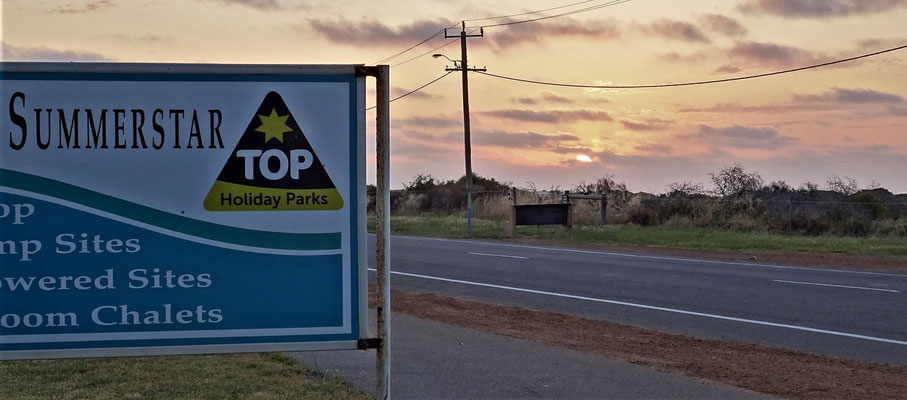 Der Campingplatz in Geraldton.
