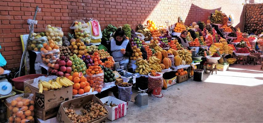 Grosse Früchteauswahl.