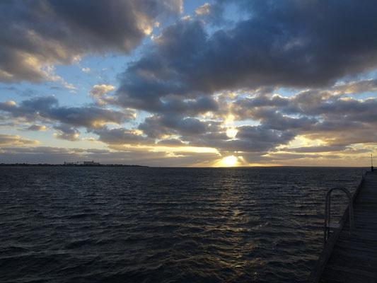 Der spektakuläre Sonnenuntergang.
