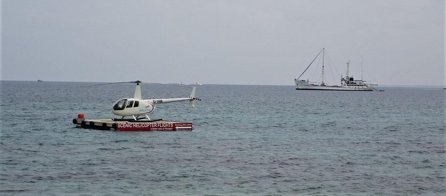 Ein spezieller Helikopter Landeplatz.