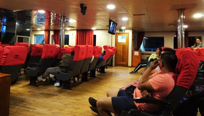 Der Passagierraum.