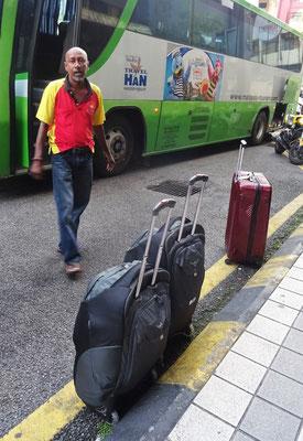 ...mit unserem Gepäck.