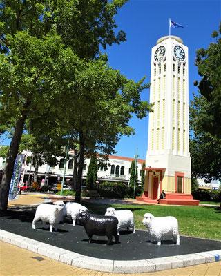 Die Turmuhr in Hastings von 1934.