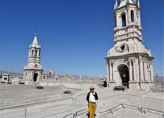 Auf dem Dach der Kathedrale.