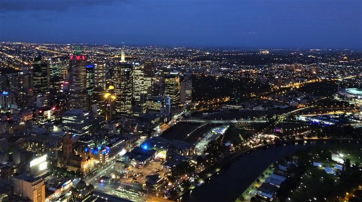 Der Blick auf Melbourne.....