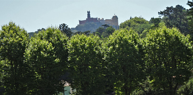 Blick zum Palacio da Pena.....