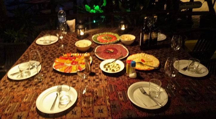 """...unser """"italienisches"""" Abendessen..."""