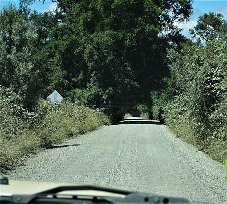 ....führte auch über Naturstrassen.....