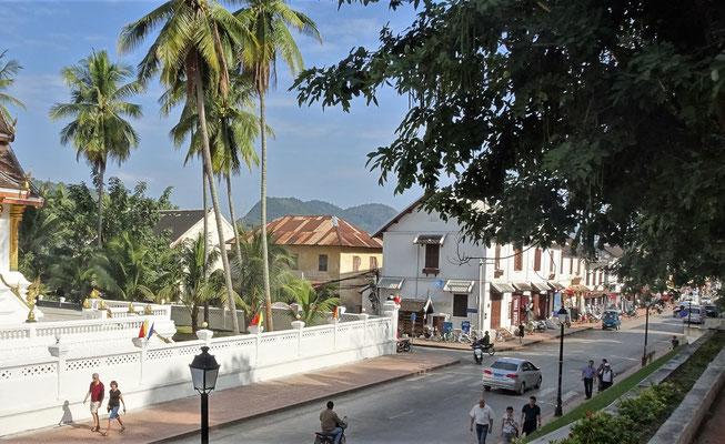 Der Blick auf die Französischen Kolonialhäuser......