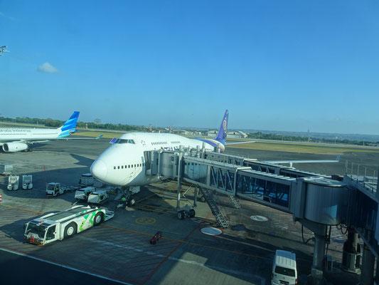Abflug von Bali....