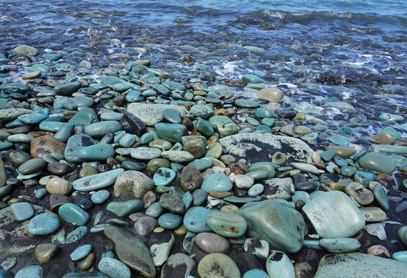 Die farbigen Steine....