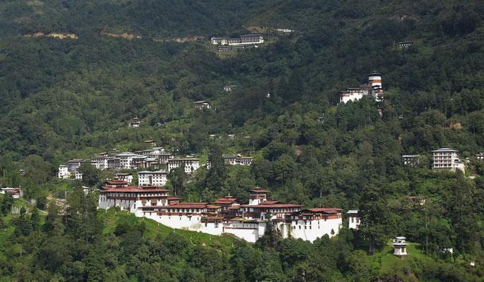 Der Trongsa Dzong...