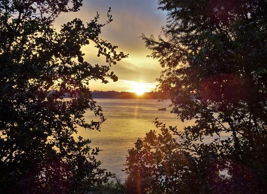 Der Sonnenaufgang vom Zimmer aus.