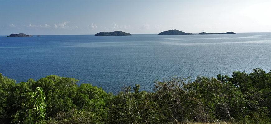 Der Blick auf den 17 Insel Nationalpark.