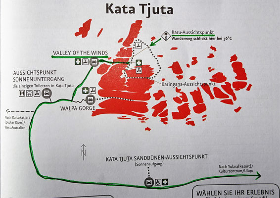 Auf dem Weg zum Kata Tjuta....