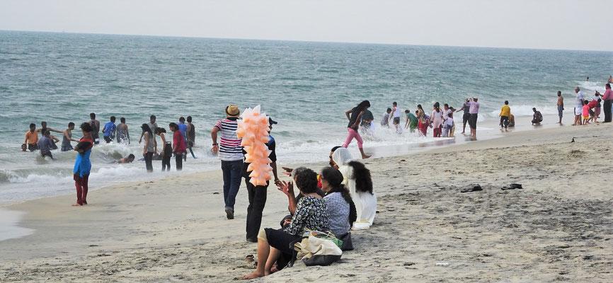 Der lange Strand mit...