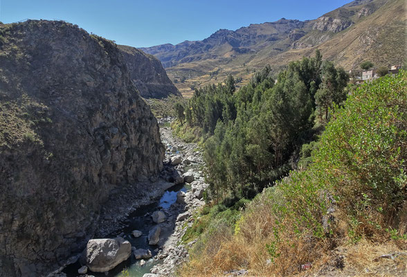 Der Colca Fluss.