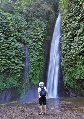 Der Wasserfall führt viel Wasser.....