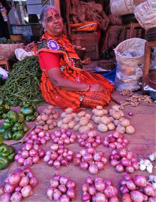 ...Gemüse aufgeschichtet....