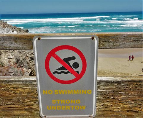 Schwimmen wird hier nicht empfohlen.....