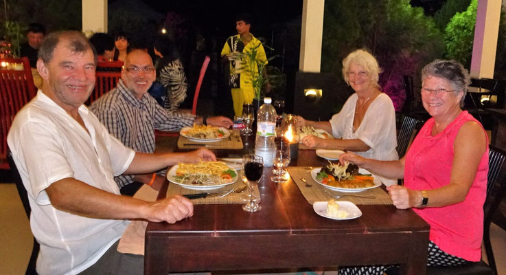 Nachtessen mit Brigitte und Uwe.....