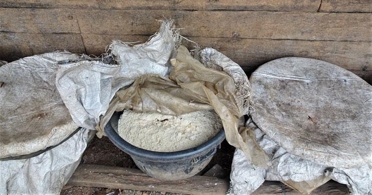 Hier wird Reis angesetzt.....