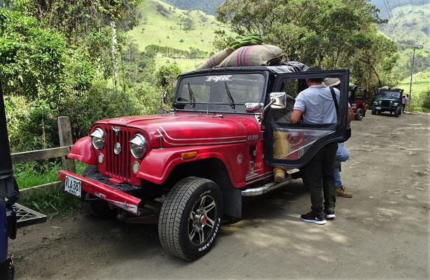 .....mit den Jeep's.....