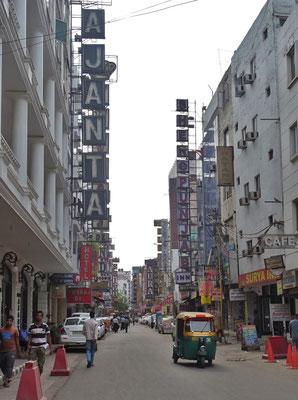 Unsere Hotelstrasse in Delhi