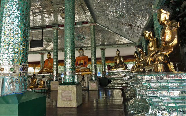 Das Innere der verschiedenen Tempel....