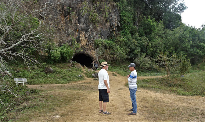 Auch diese Höhle ist von Menschenhand gebaut und 2'500 Jahre alt.