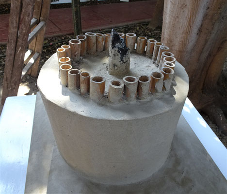 Die Säulenkonstruktion der Tempel.