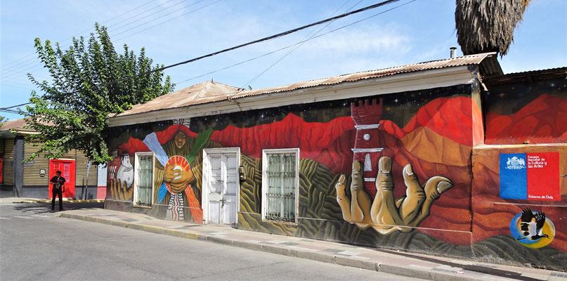 Graffitis überall.