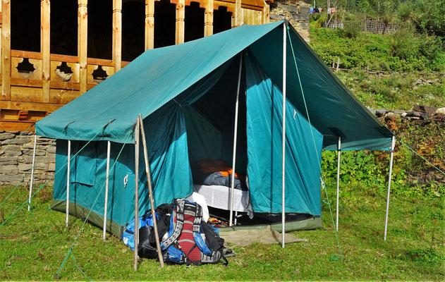 Unser Zelt...