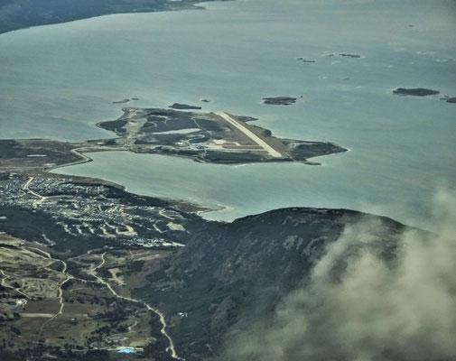 Der Flugplatz von Ushuaia (Argentinien)