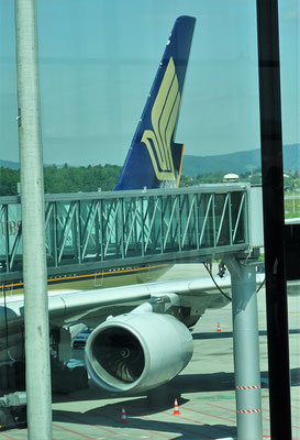 Mit einem A380 flogen wir.