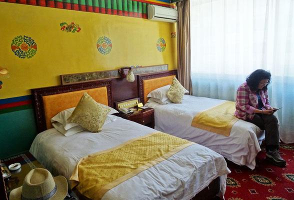 und unserem Zimmer