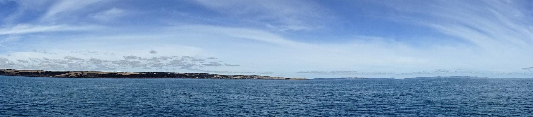 Der Blick auf die Insel.
