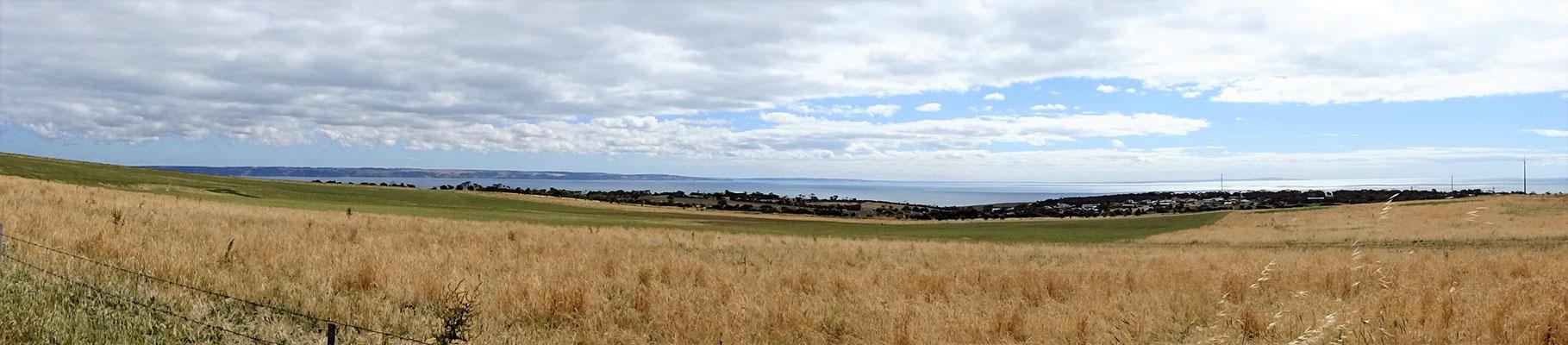 Der erste Blick auf Kangaroo Island....