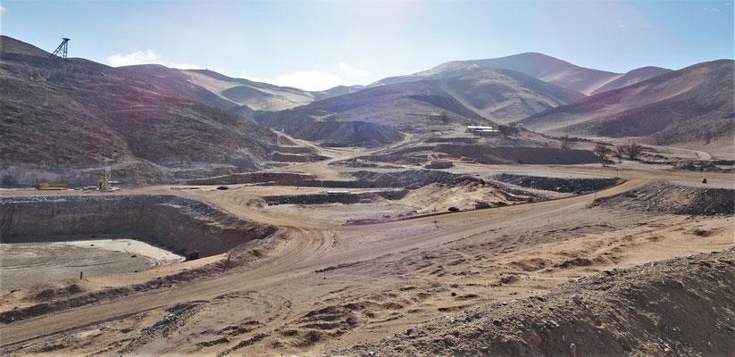 Der Blick über das Minengelände.