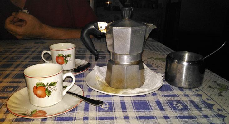 ...genossen wir diesen wunderbaren Kaffee.