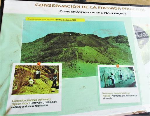 So sah der Huaca de la Luna Tempel 1988 aus.