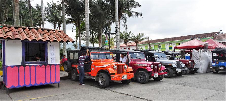 Die Transport-Jeep's.....