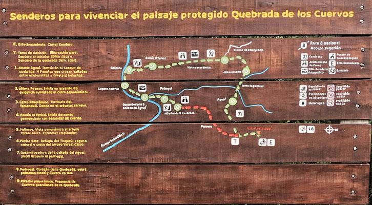 Der Nationalpark Quebrada de los Cuervos.